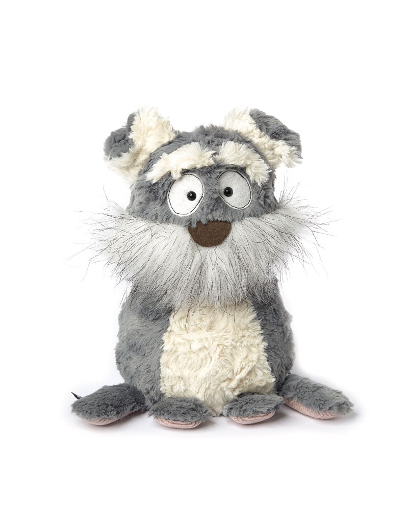 Peluche chien gris Mutt Mutty 23 cm Beasts -