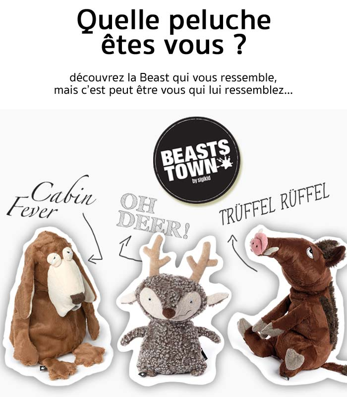 peluche de collection originale beasts sigikid